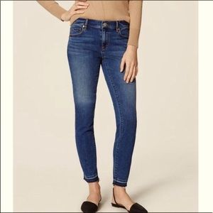 LOFT Modern Skinny Jean with double raw hem